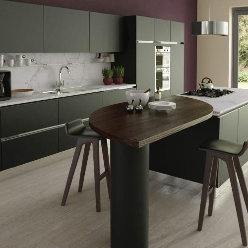 Chamfered Smooth Painted Fired Charcoal Contemporary Ashley Ann Kitchen
