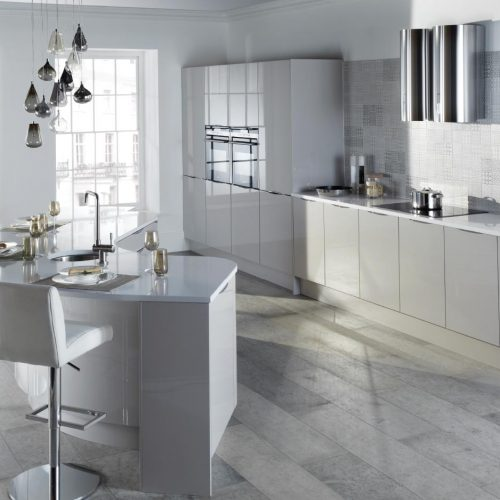 Mercury Cashmere Gloss Contemporary Ashley Ann Kitchen