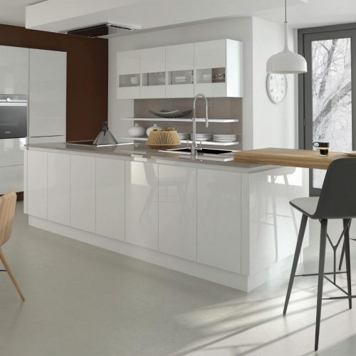 Mirror Gloss White Contemporary Ashley Ann Kitchen
