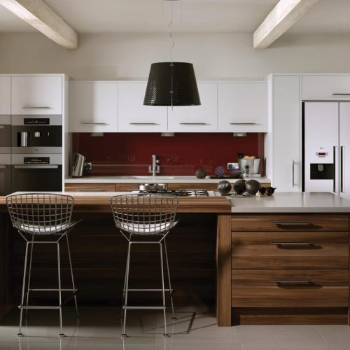Perfect Matt White and Autumn Plum Contemporary Ashley Ann Kitchen