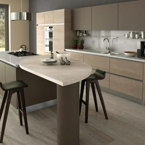 Sand Gladstone Oak and Truffle Contemporary Ashley Ann Kitchen