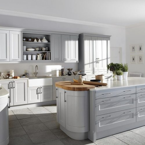 Affric Painted, Elgin Grey Caledonia Traditional Shaker Style Kitchen