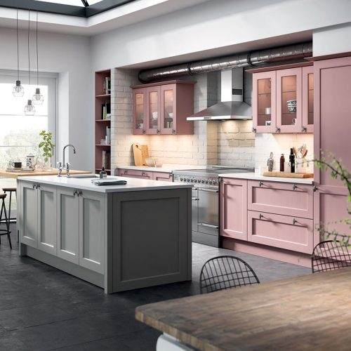 Carrick Painted, Quarry Dust & Highland Flower Caledonia Traditional Shaker Style Kitchen