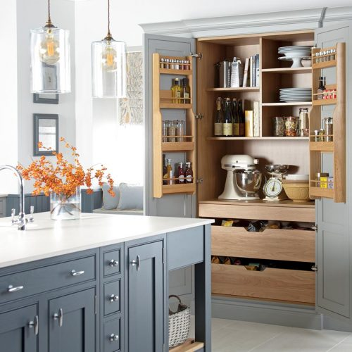 Katrine Painted Elgin Grey & Caithness Slate Cameo Caledonia Traditional Shaker Style Kitchen
